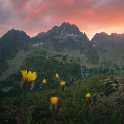 Sunrise in High Tatras