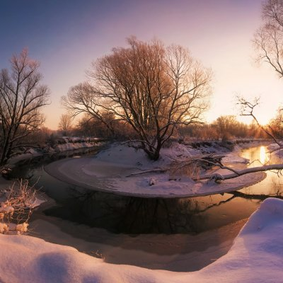 Winter Morning at River Odra